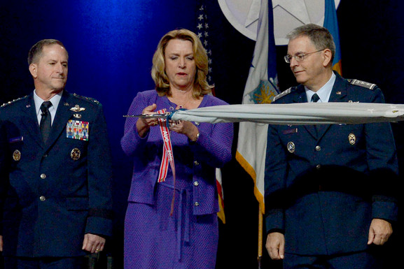 Gen Dave Goldfein, Deborah James, CAP Maj Gen Joe Vazquez