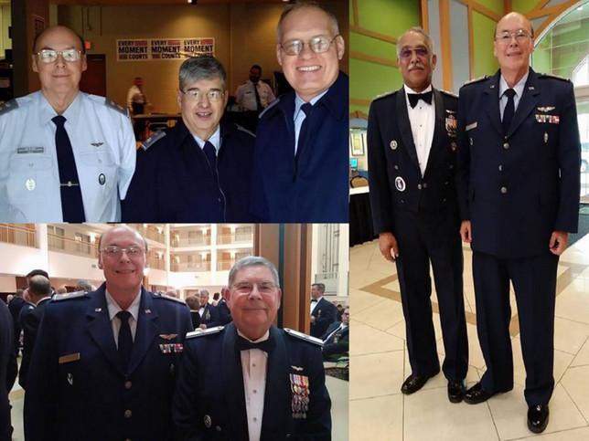 CAP Maj Robert Ray Hill with CAP Col Jay Hughes, CAP Brig Gen Myrick, CAP Maj Gen Carr
