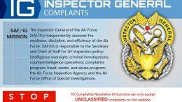 USAF IG Complaints