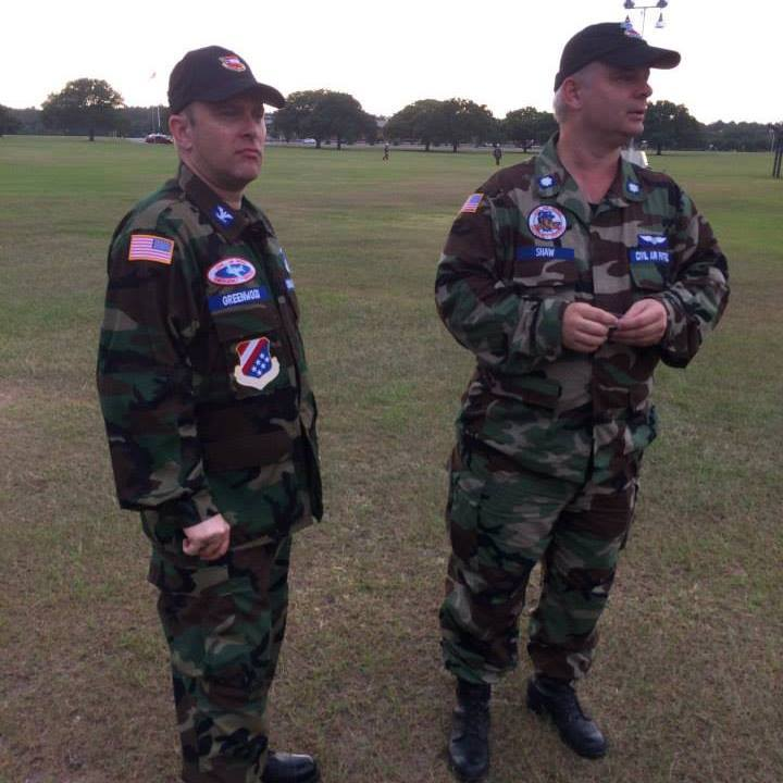 Civil Air Patrol's Richard Greenwood and James L. Shaw