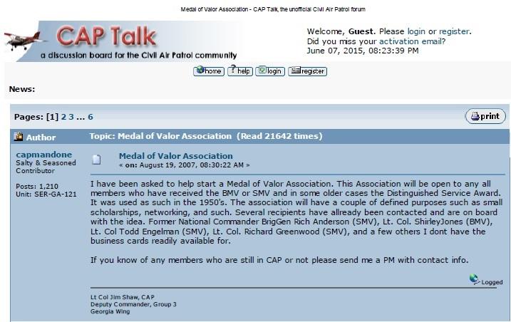 Civil Air Patrol Medal of Valor Association