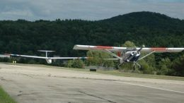 Glider and Towplane in Civil Air Patrol paint