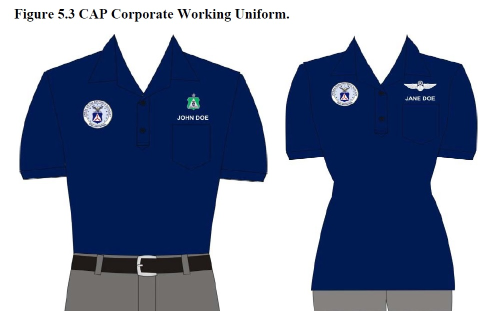 Civil Air Patrol Polo with White Pants