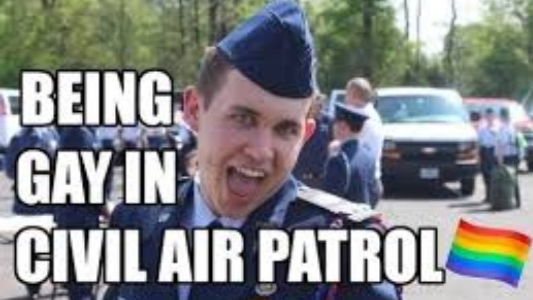 Civil Air Patrol Flaming Gay in Air Force Blues