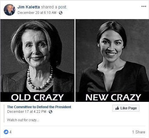 Civil Air Patrol Civil Air Patrol commander Jim Kaletta disparages Congresswoman Alexandria Ocasio-Cortez
