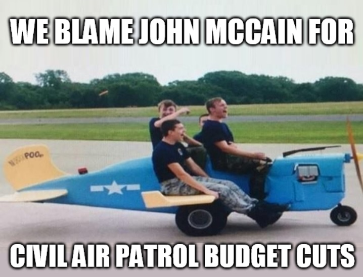 Civil Air Patrol Meme: Blame John McCain for Budget Cuts