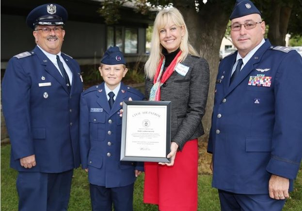 Rep Mary Dye, Major Civil Air Patrol