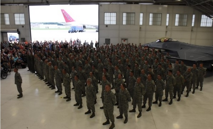 Members of the 115th Fighter Wing at Truax Field, Madison