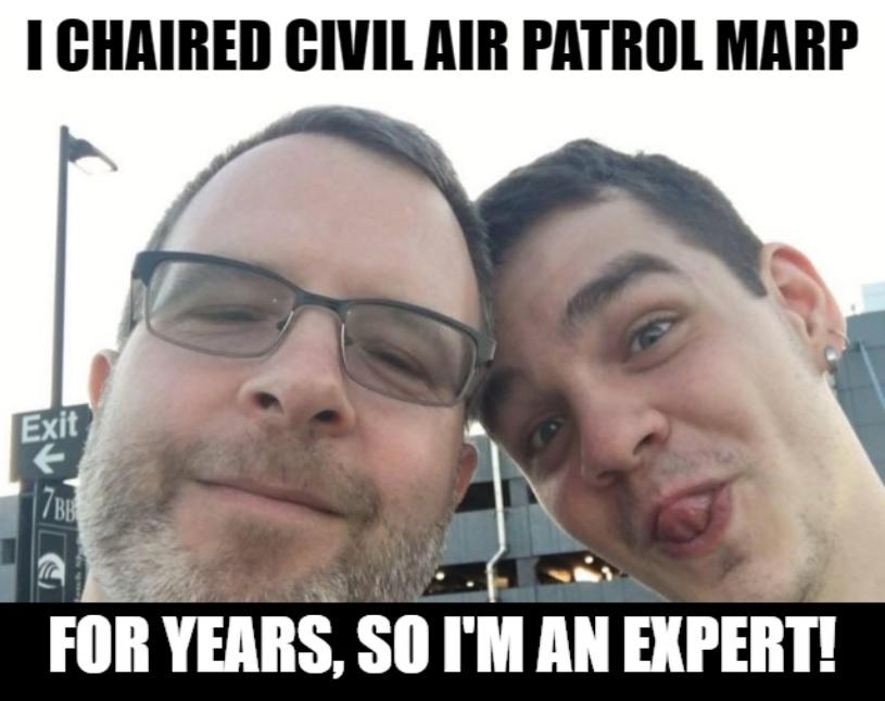 Civil Air Patrol Meme: John Postl Tongue Stud MARP