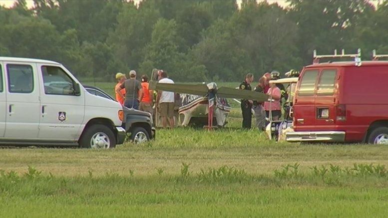 Civil Air Patrol's crashed N291CP lies inverted at Geneseo New York
