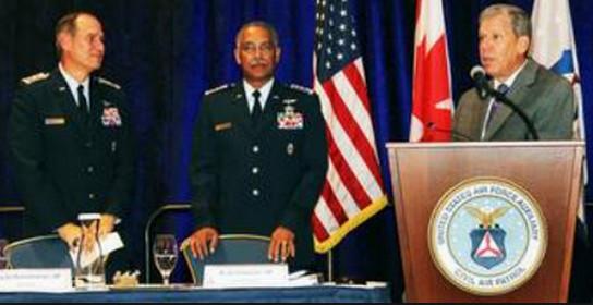 CAP Brig Gen Richard Anderson, CAP Maj Gen Charles Carr, USAF Maj Gen John Spiegel