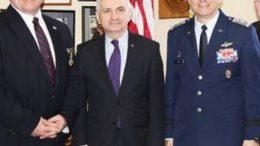 CAP Col Richard F. Hill, Senator Jack Reed, CAP Maj Gen Joe Vazquez
