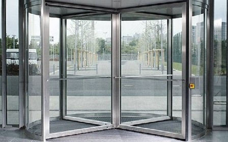 Civil Air Patrol revolving glass door.