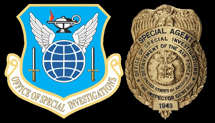 Emblem and Special Agent Badge of AFOSI