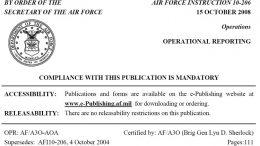 Civil Air Patrol, Air Force Instruction